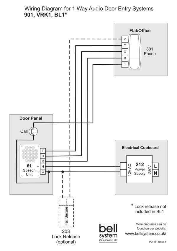 Bell 901 Audio Door Entry Kit